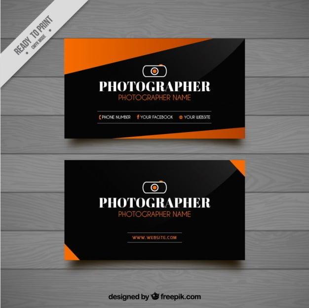 کارت ویزیت عکاسی حرفه ای رنگی