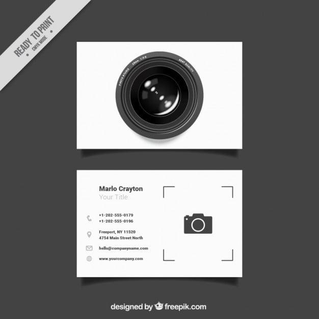 کارت ویزیت عکاسی حرفه ای