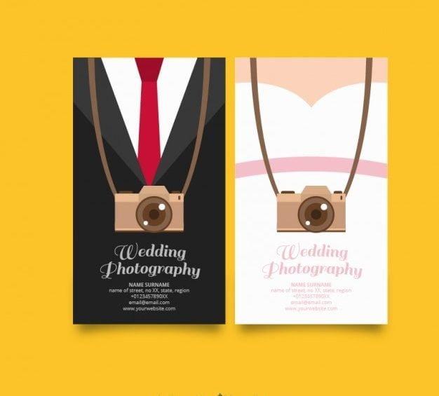 کارت ویزیت عکاسی عروسی