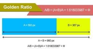 فرمول نسبت طلایی