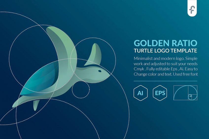 طراحی لوگو با نسبت طلایی