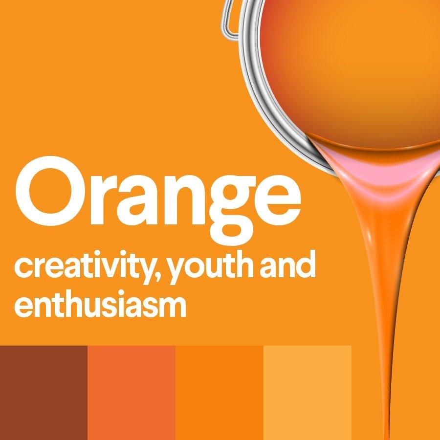 معنی رنگ نارنجی