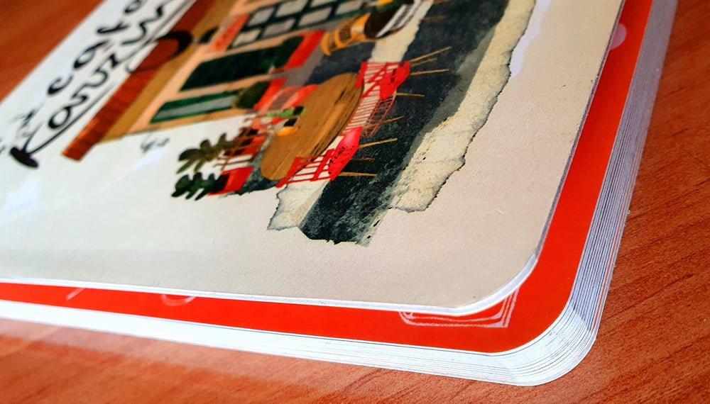 منو کتابچه ای صحافی آلبومی