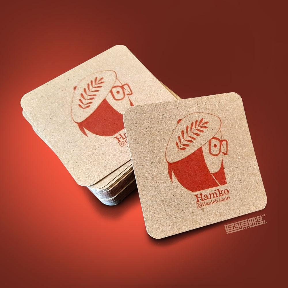 کارت ویزیت کرافت مربعی دورگرد