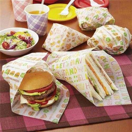 کاغذ مومی برای بسته بندی خوراکی